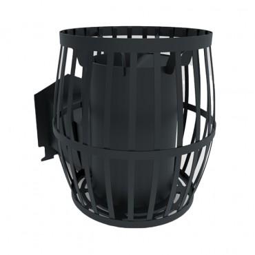 Печь для бани Бочка 30 м³ с выносом и стеклом 305*305