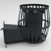 Печь для бани Бочка 20 м³ с выносом и стеклом 400*400