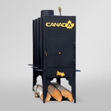 Печь дровяная Canada длительного горения с теплоаккумулятором