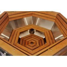 Чан Ø1,8м на дровах из нержавейки  базовая комплектация