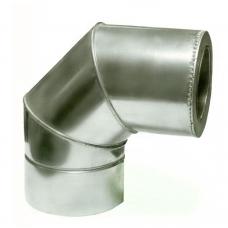 Ø100|160 Колено 90° к/к  нержавеющая AISI 304 сталь