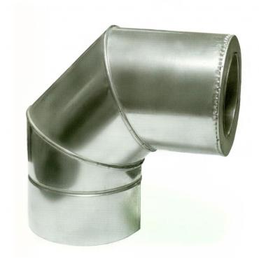 Ø120/220 Колено 90* к/оц нержавеющая AISI 304 сталь