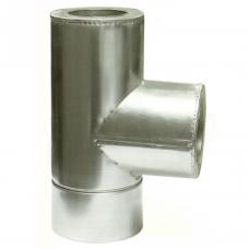 Ø100 160 Тройник 87* к/к 0,8мм нержавеющая AISI 304 сталь