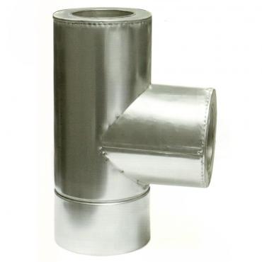 Ø100|160 Тройник 87* к/к 0,8мм нержавеющая AISI 321 сталь