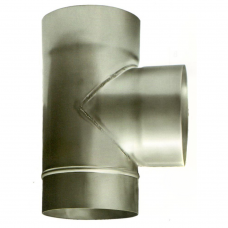 Ø110 Тройник 87* 08 мм нержавеющая AISI 321 сталь