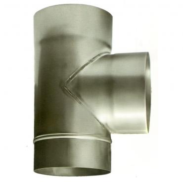 Ø110 Тройник 87*  нержавеющая сталь