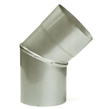 Ø120 Колено 45°, 08 мм нержавеющая сталь
