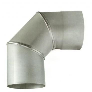 ø140 Колено 90°, 1мм нержавеющая AISI 304 сталь