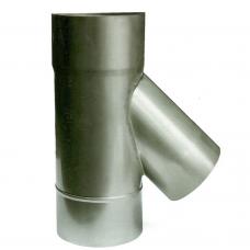 Ø100 Тройник 45*  нержавеющая сталь